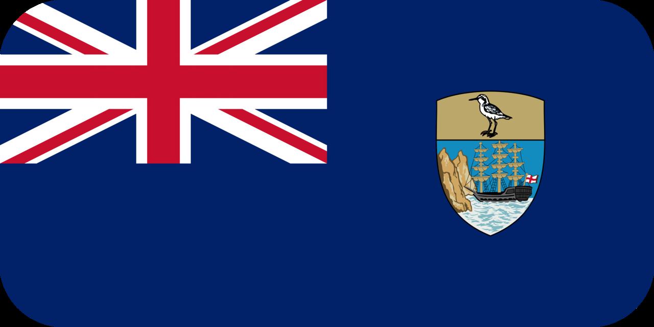 Saint Helena flag with rounded corners