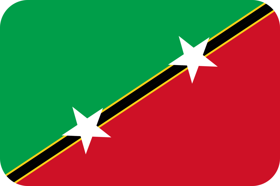 Saint Kitts and Nevis flag with rounded corners