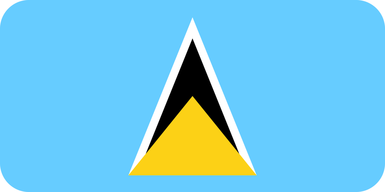 Saint Lucia flag with rounded corners