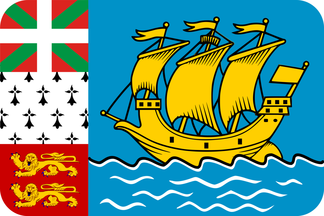 Saint Pierre and Miquelon flag with rounded corners