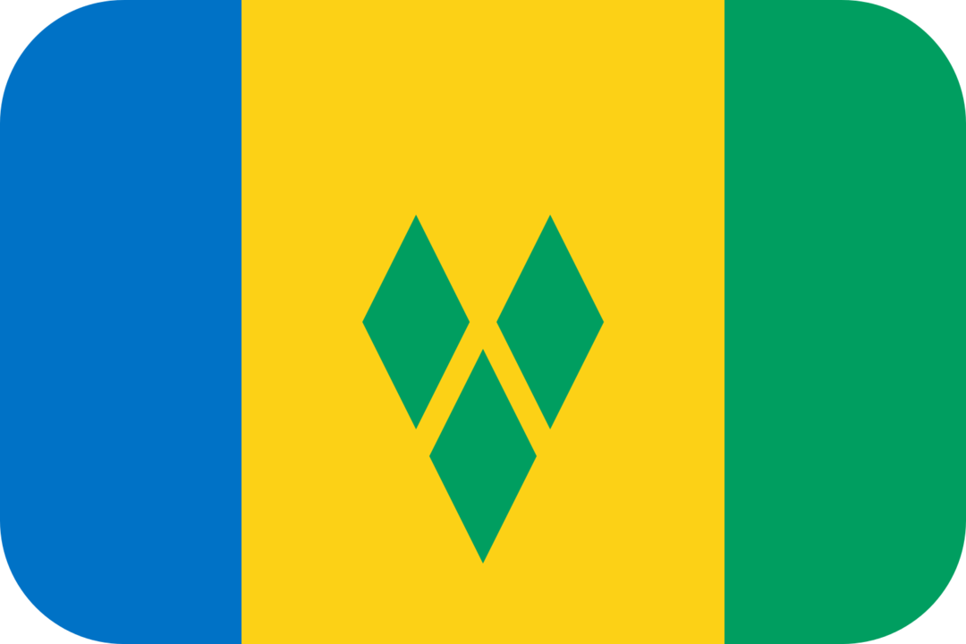 Saint Vincent and the Grenadines flag with rounded corners
