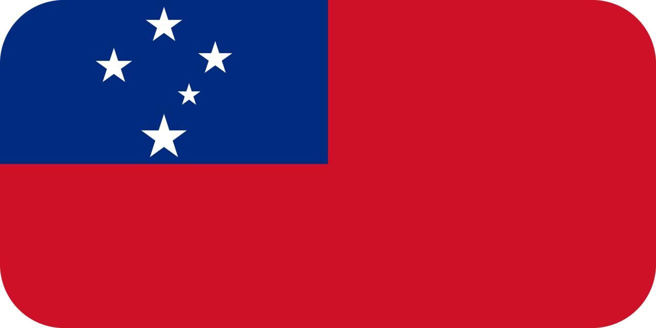 Samoa flag with rounded corners