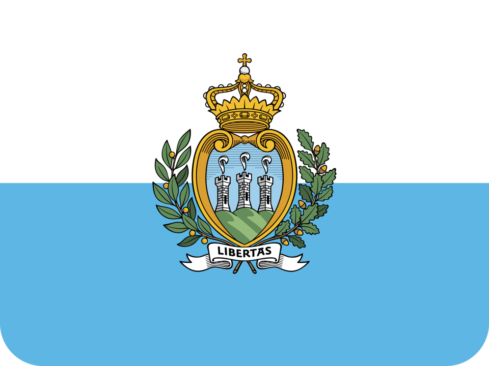 San Marino flag with rounded corners