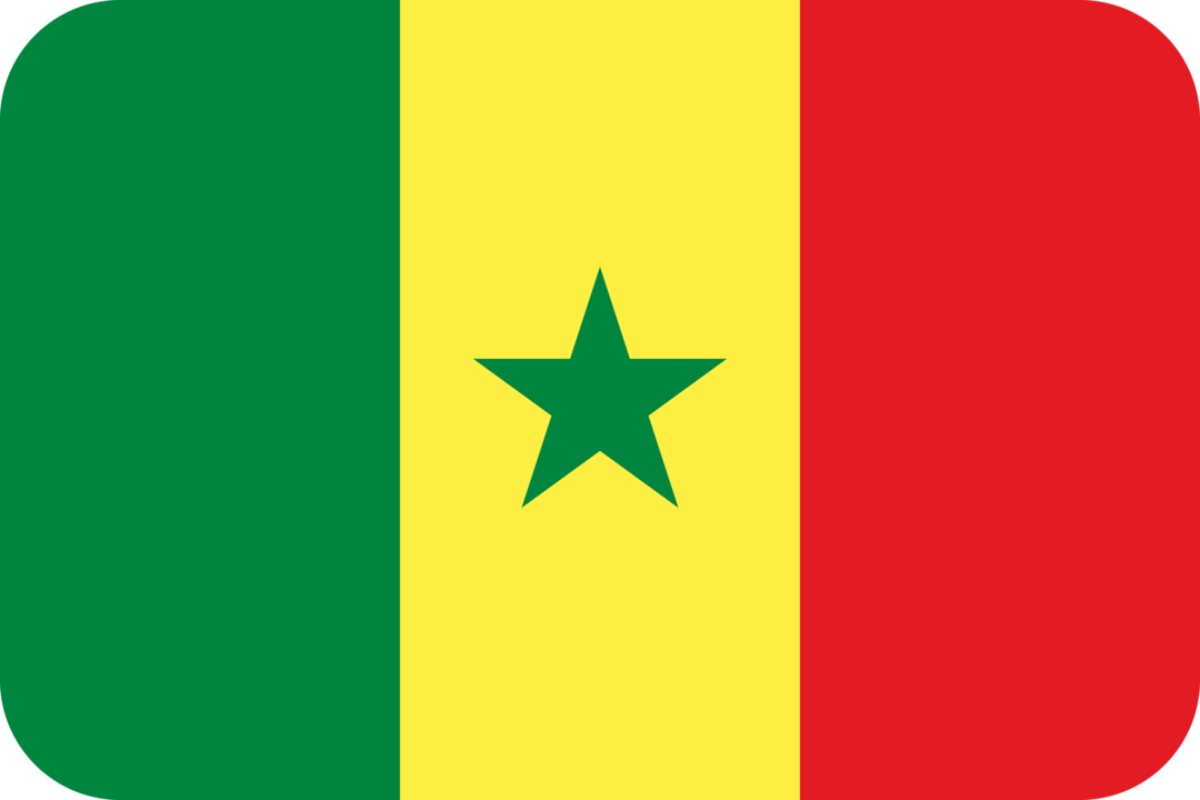 Senegal flag with rounded corners