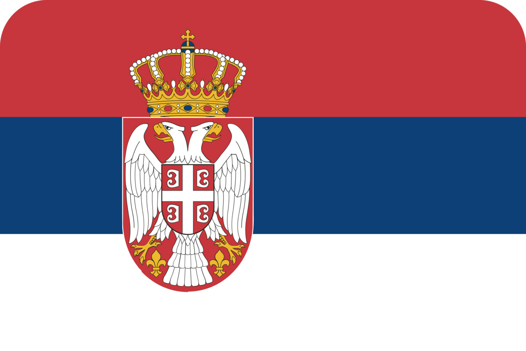 Serbia flag with rounded corners