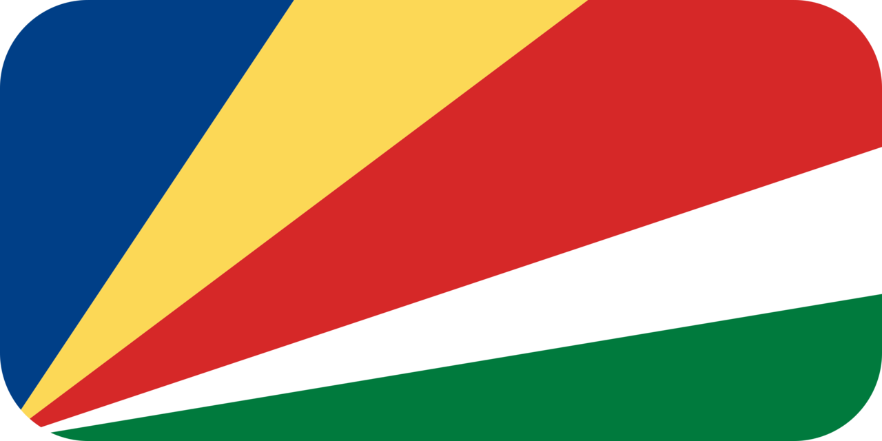 Seychelles flag with rounded corners