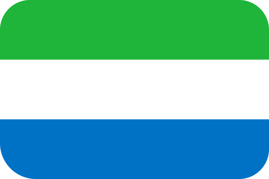 Sierra Leone flag with rounded corners