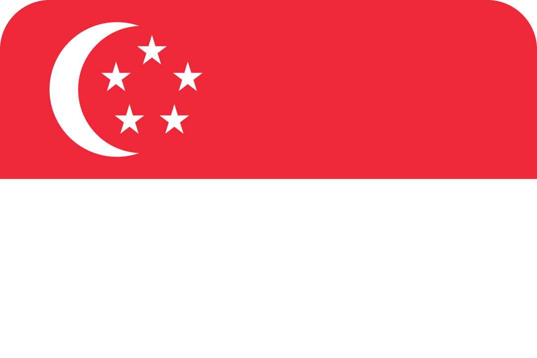 Singapore flag with rounded corners