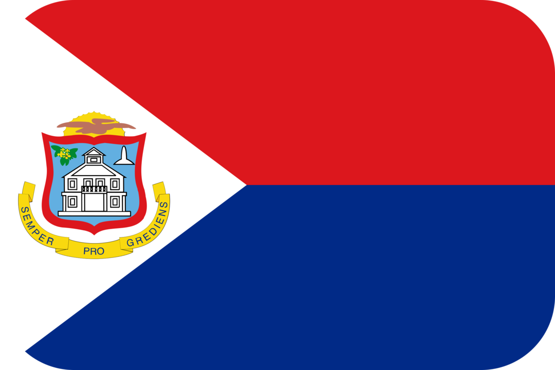 Sint Maarten flag with rounded corners