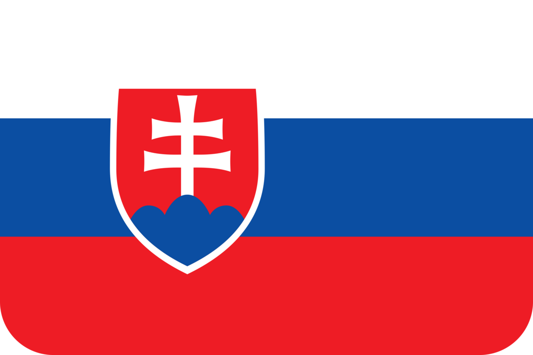 Slovakia flag with rounded corners