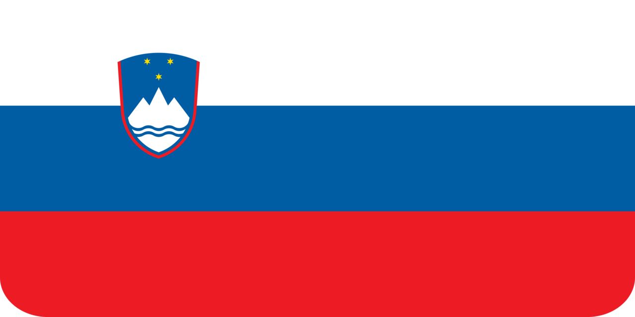 Slovenia flag with rounded corners