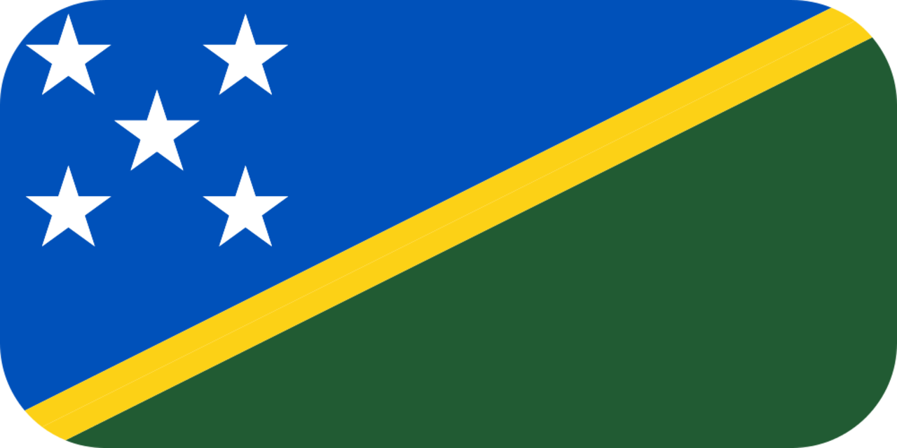 Solomon Islands flag with rounded corners