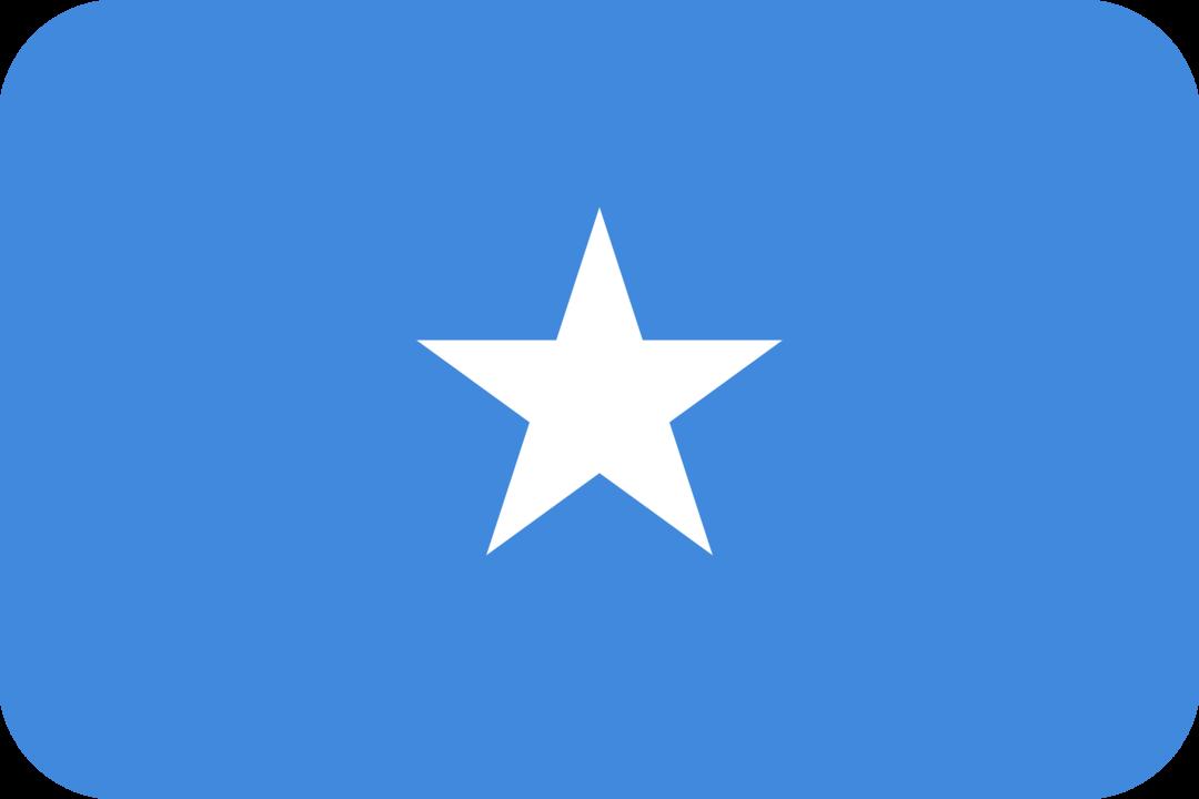 Somalia flag with rounded corners