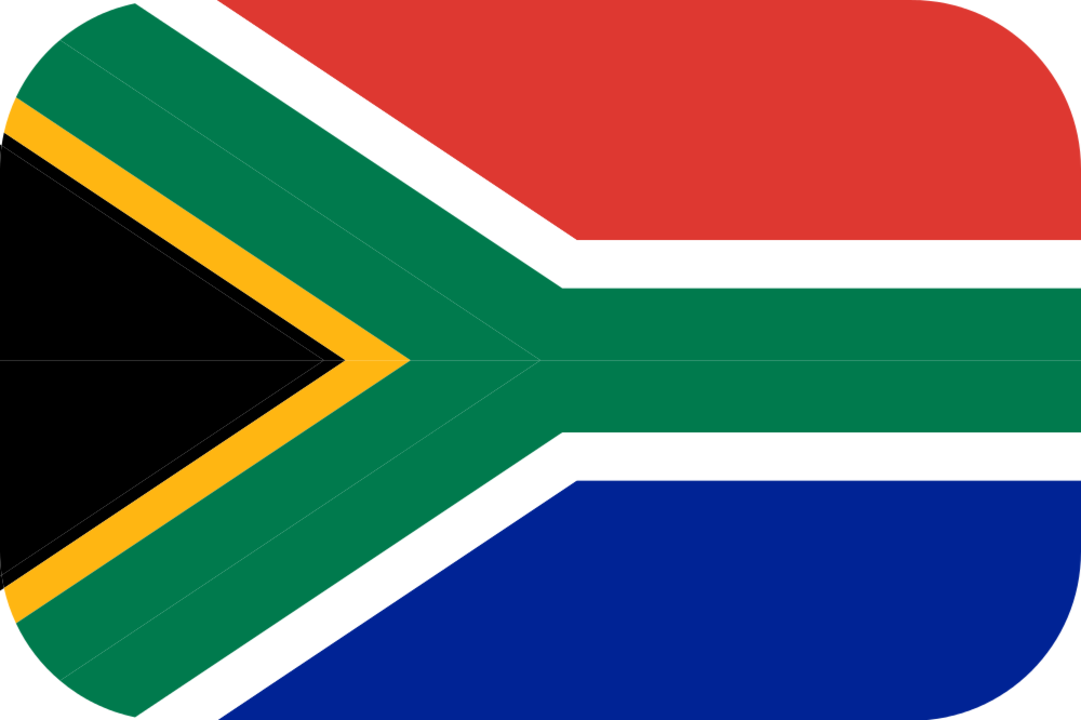 South Africa flag with rounded corners