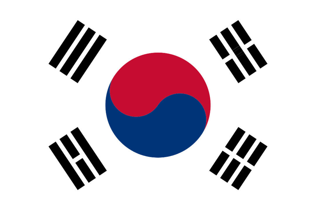 South Korea flag with rounded corners