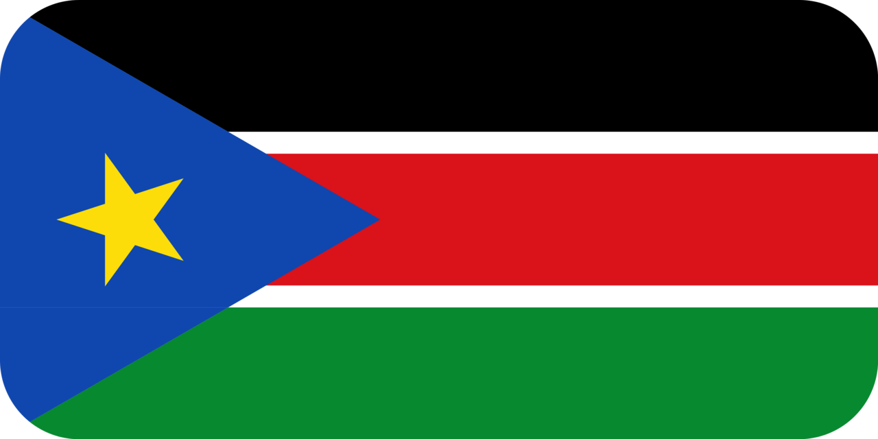 South Sudan flag with rounded corners