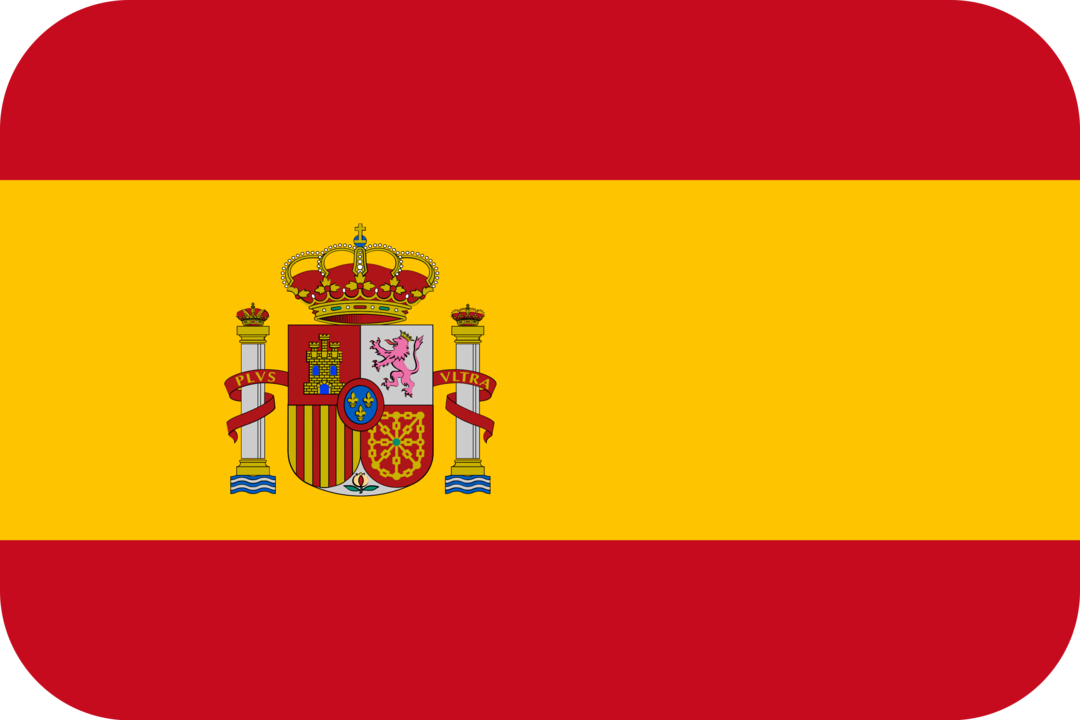 Spain flag with rounded corners