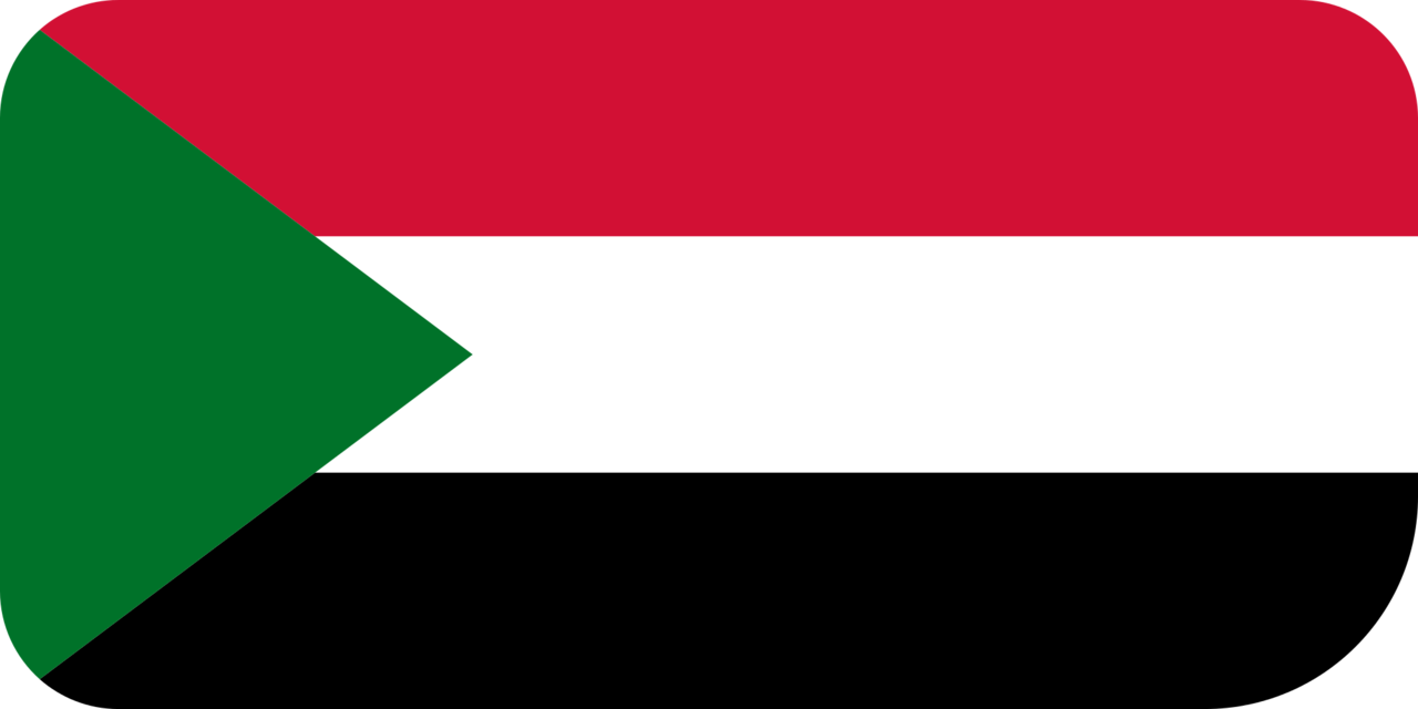 Sudan flag with rounded corners