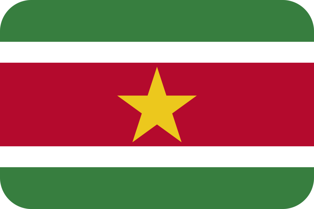 Suriname flag with rounded corners