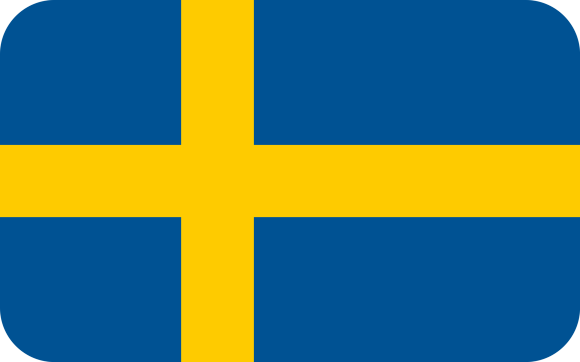 Sweden flag with rounded corners
