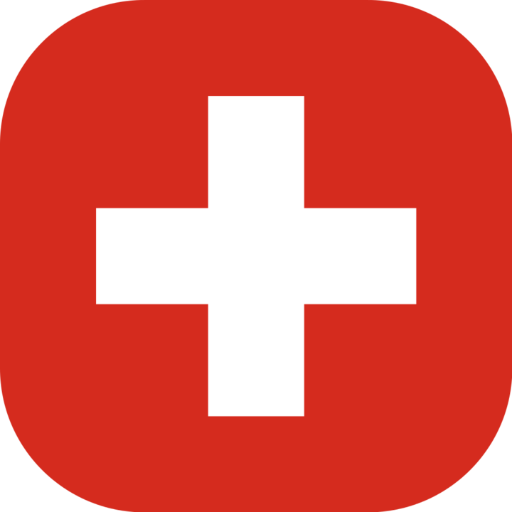 Switzerland flag with rounded corners