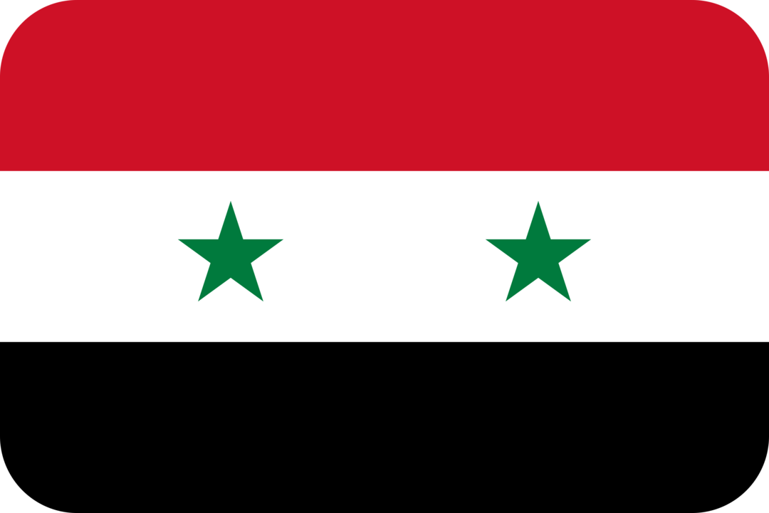 Syria flag with rounded corners