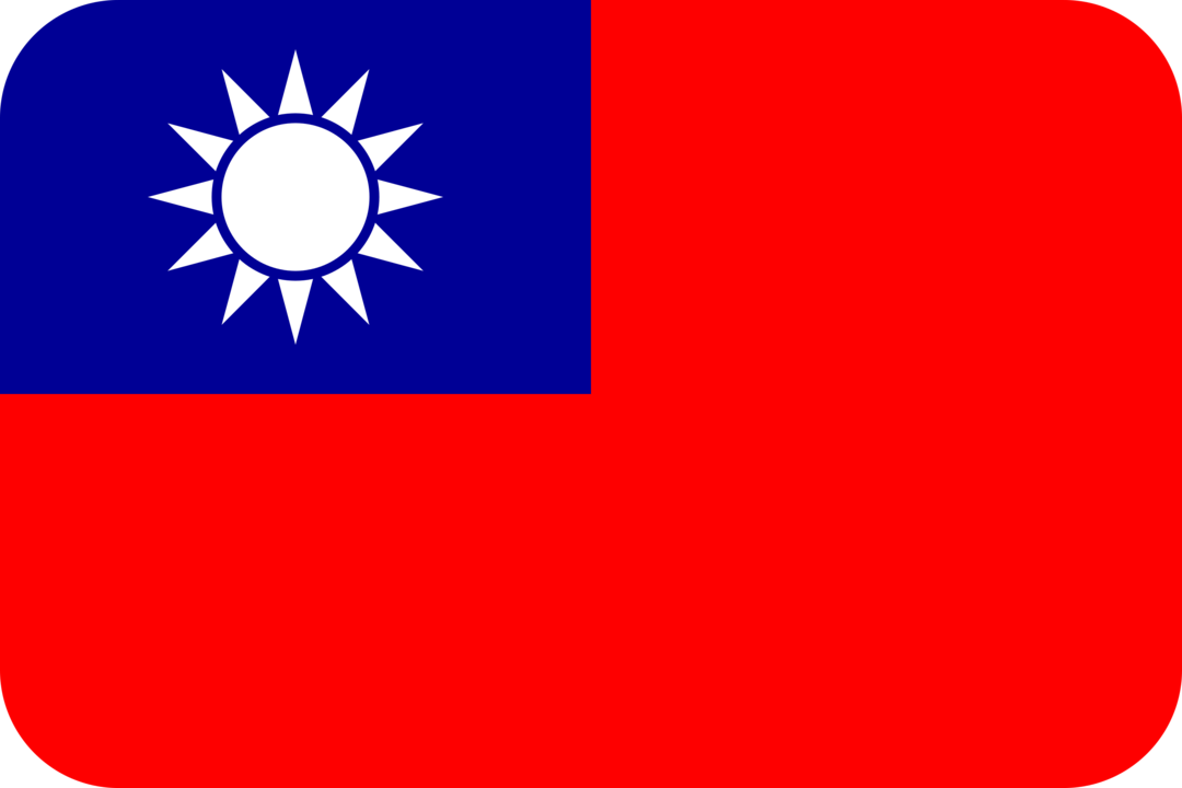 Taiwan flag with rounded corners