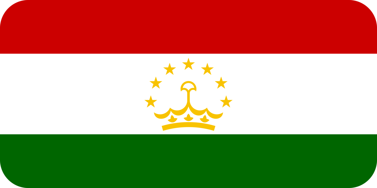 Tajikistan flag with rounded corners