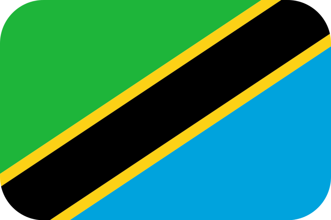 Tanzania flag with rounded corners