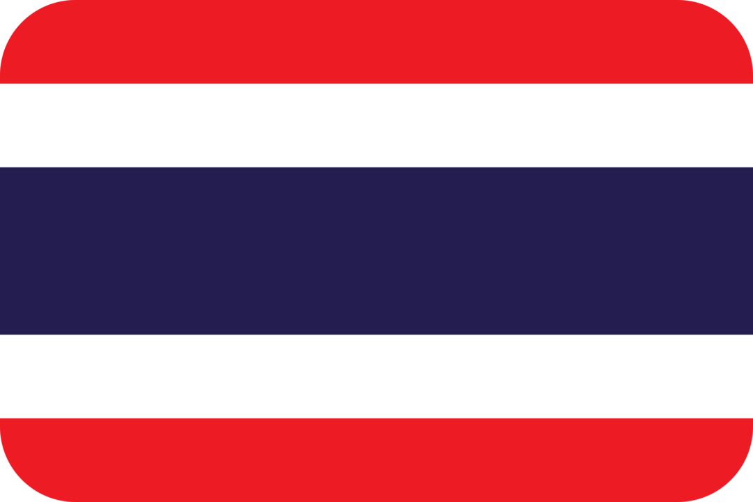Thailand flag with rounded corners