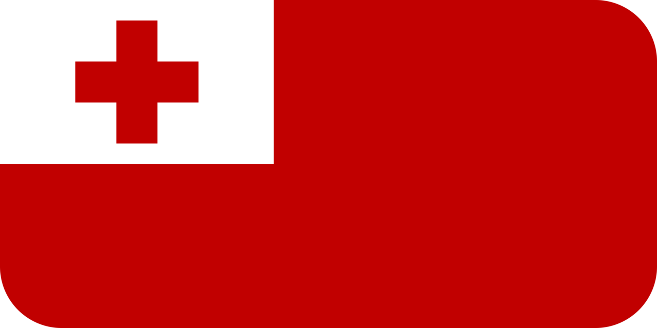 Tonga flag with rounded corners