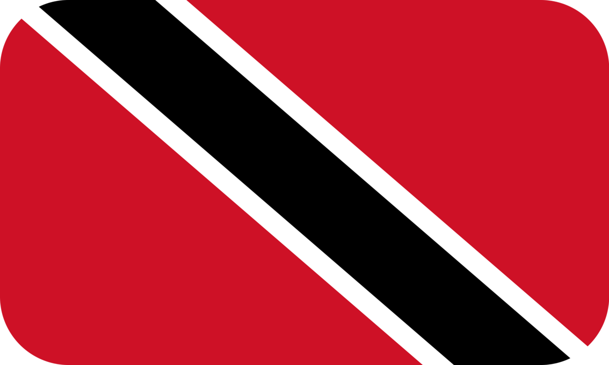 Trinidad and Tobago flag with rounded corners
