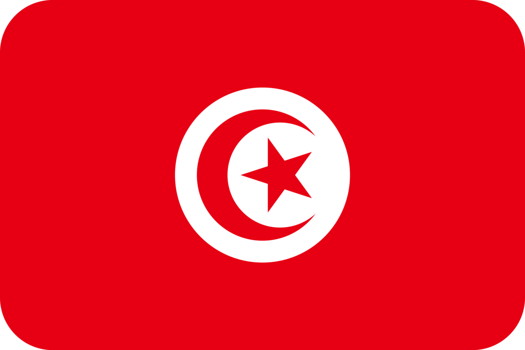Tunisia flag with rounded corners