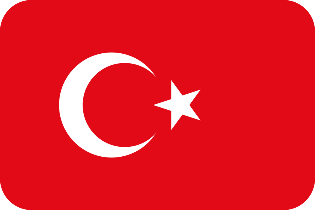 Turkey flag with rounded corners