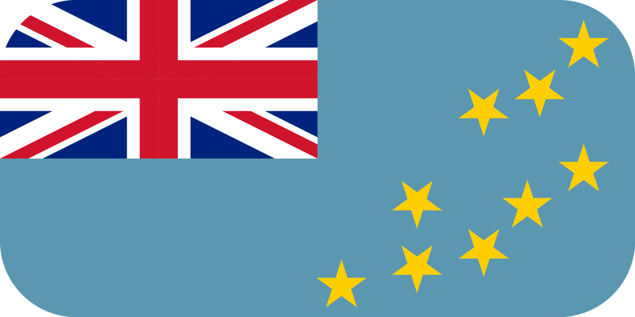 Tuvalu flag with rounded corners