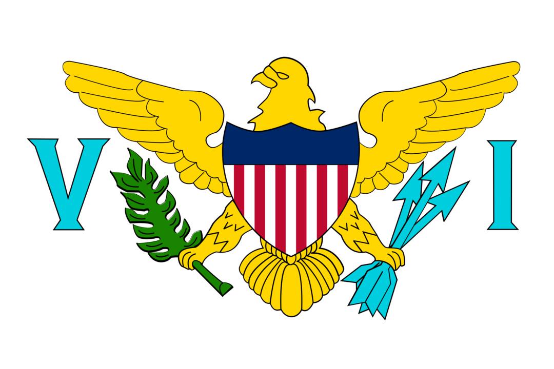 U.S. Virgin Islands flag with rounded corners