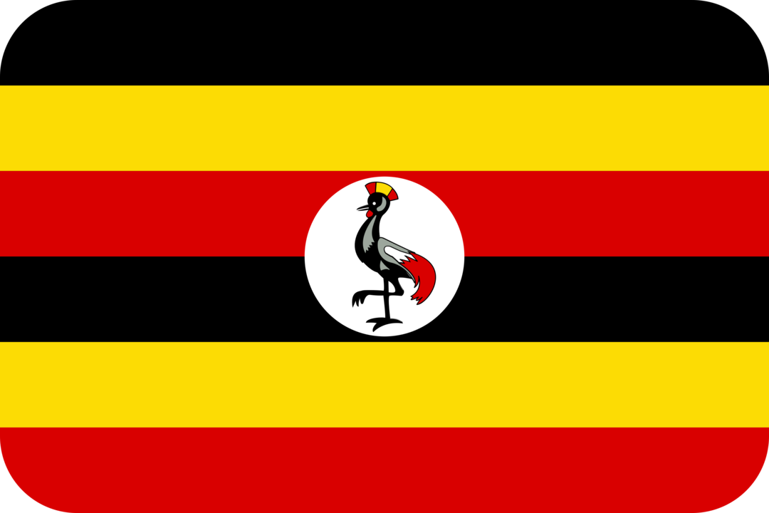 Uganda flag with rounded corners