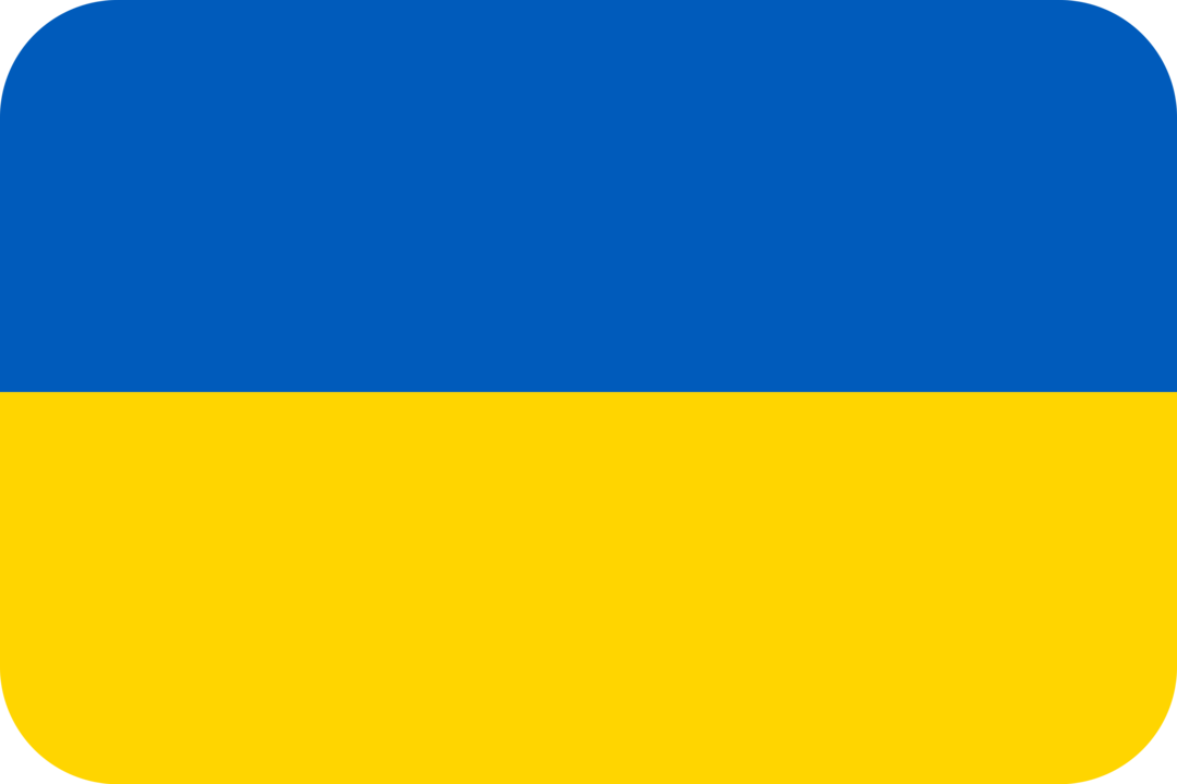 Ukraine flag with rounded corners