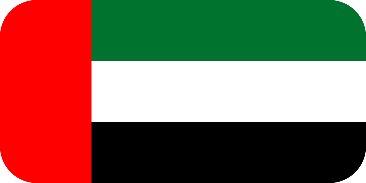 United Arab Emirates flag with rounded corners