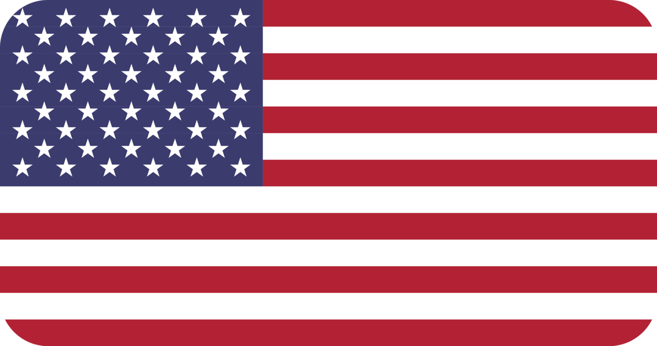 United States flag with rounded corners