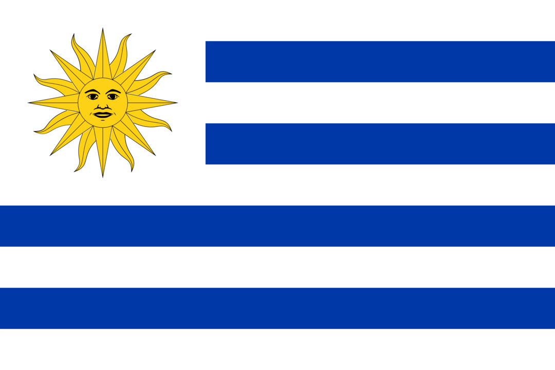 Uruguay flag with rounded corners