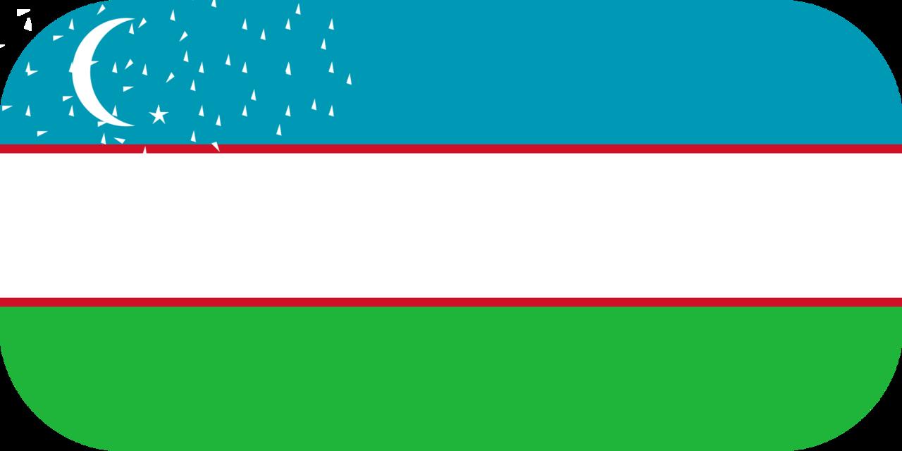 Uzbekistan flag with rounded corners