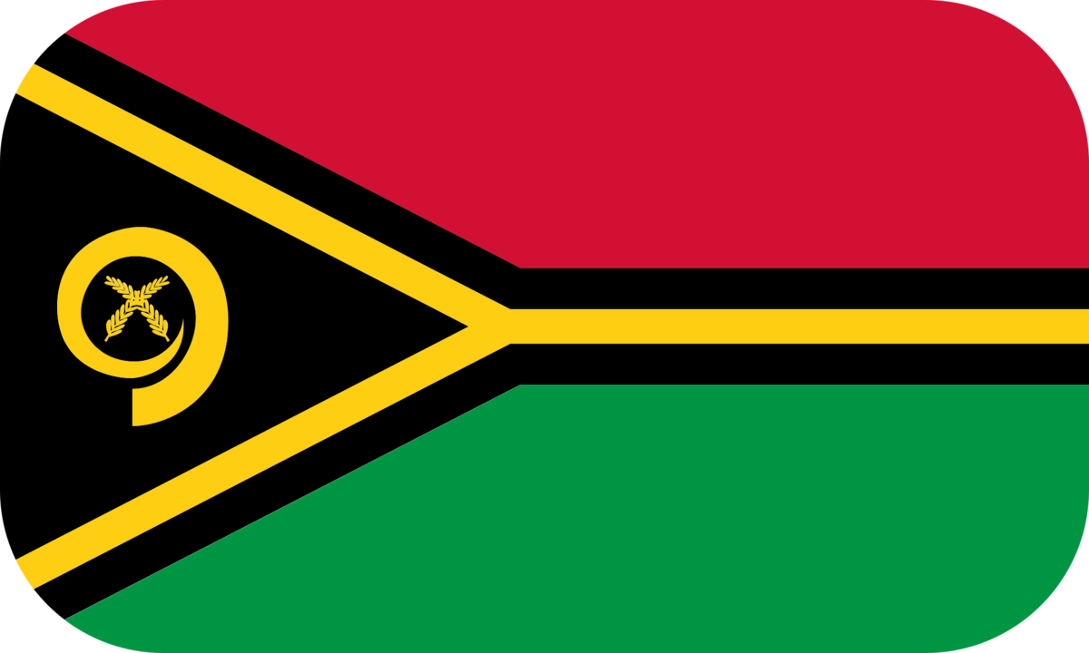 Vanuatu flag with rounded corners
