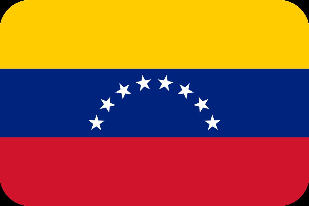 Venezuela flag with rounded corners