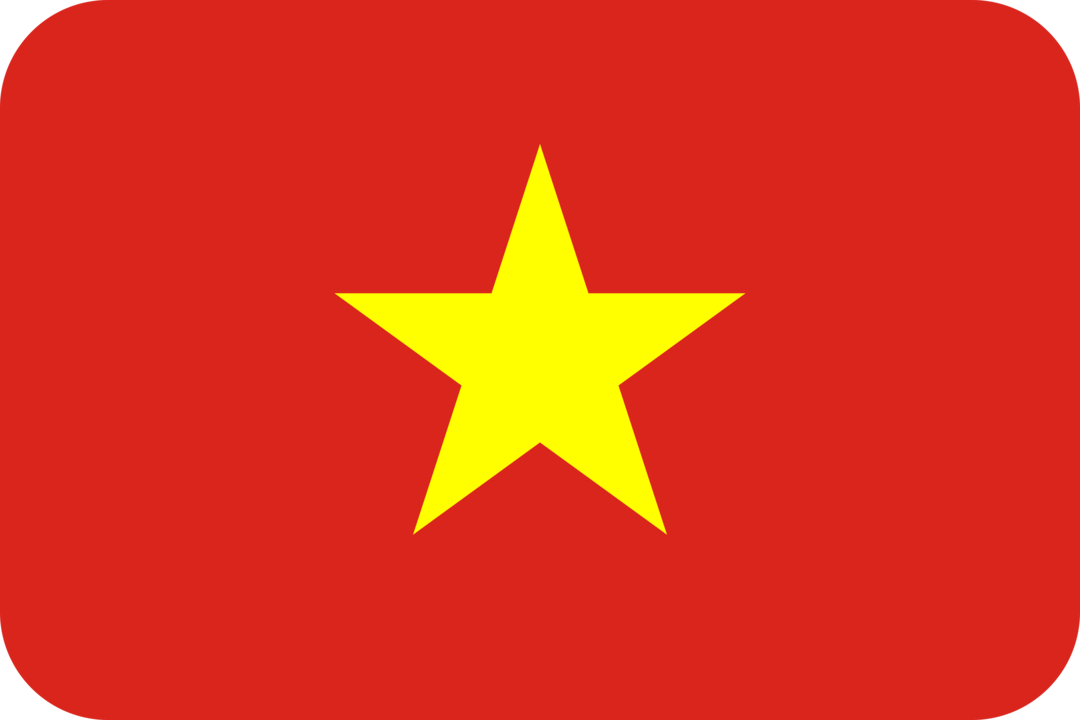 Vietnam flag with rounded corners