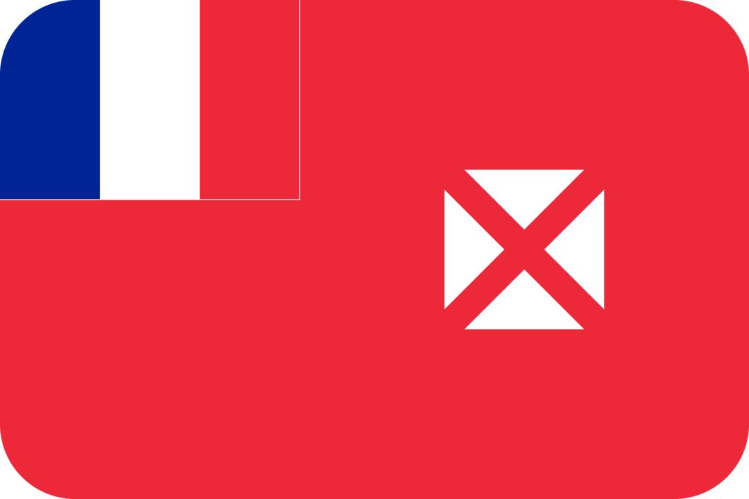 Wallis and Futuna flag with rounded corners