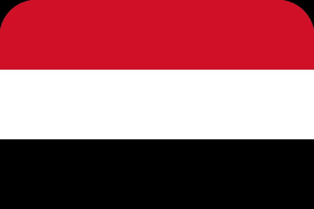 Yemen flag with rounded corners