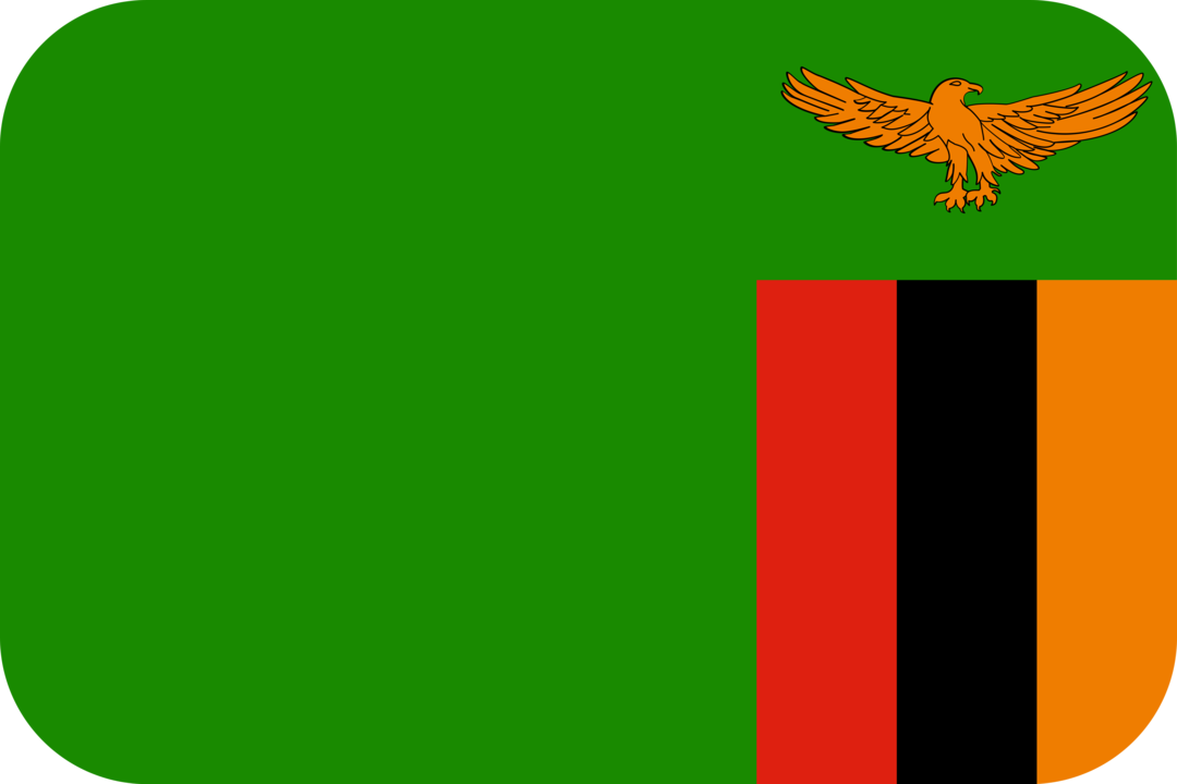 Zambia flag with rounded corners