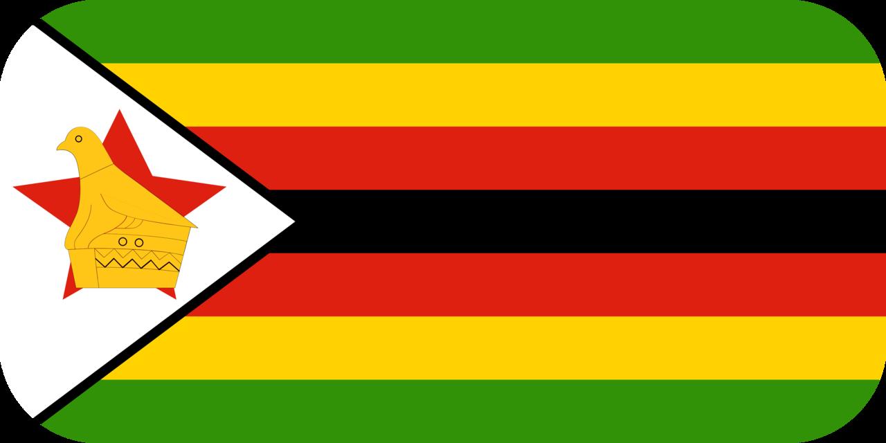Zimbabwe flag with rounded corners