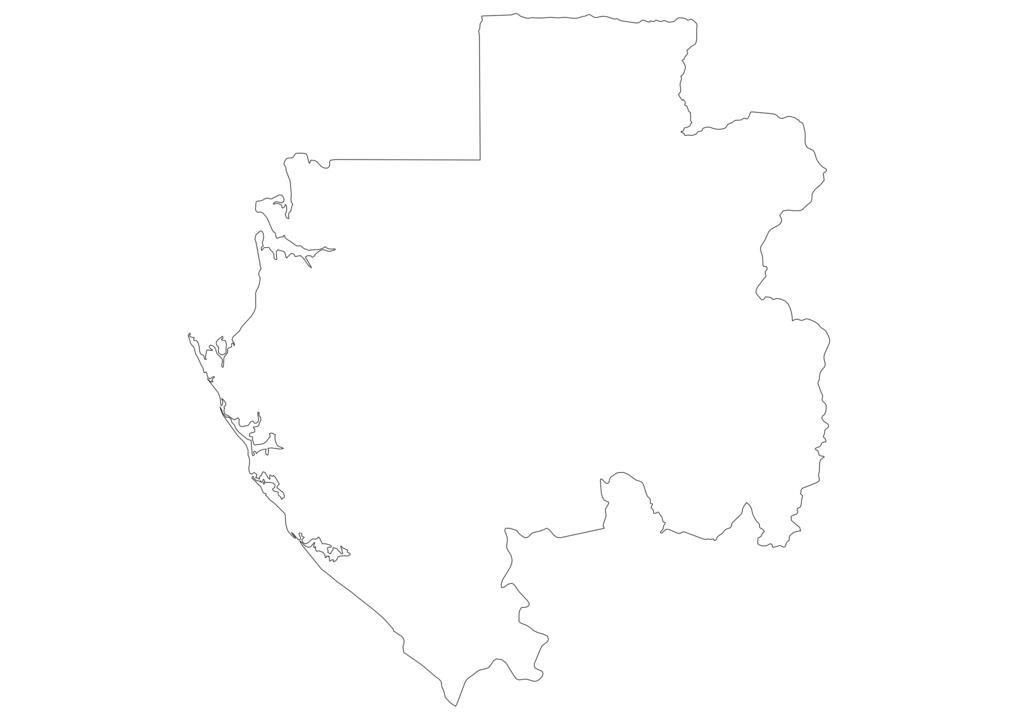 Gabon Outline Map